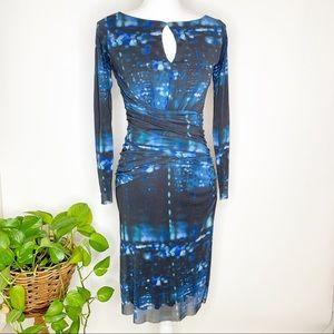 Weston Wear abstract print long sleeve dress C0303